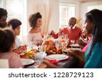 multi generation mixed race... | Shutterstock . vector #1228729123