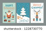set christmas cards templates... | Shutterstock .eps vector #1228730770