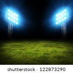 green soccer field  bright... | Shutterstock . vector #122873290