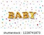 raster copy gold letter baby... | Shutterstock . vector #1228741873