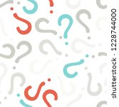 quiz seamless pattern. question ... | Shutterstock .eps vector #1228744000