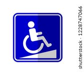 isolated ramp way for disable... | Shutterstock .eps vector #1228747066