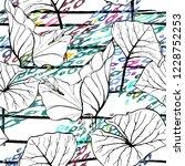 tropical  stripe  animal motif. ... | Shutterstock .eps vector #1228752253