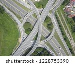 aerial drone photo of urban... | Shutterstock . vector #1228753390