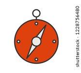 directional compass line filled ... | Shutterstock .eps vector #1228756480