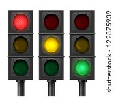 set of vector traffic lights... | Shutterstock .eps vector #122875939