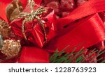 decorated christmas tree... | Shutterstock . vector #1228763923