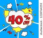 comic lettering 40  off sale ... | Shutterstock .eps vector #1228764253