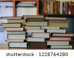 close up of several books... | Shutterstock . vector #1228764280