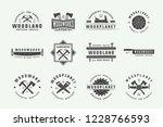 set of vintage carpentry ... | Shutterstock .eps vector #1228766593