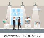 businessmen couple in corridor...   Shutterstock .eps vector #1228768129