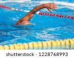 active senior swimming senior... | Shutterstock . vector #1228768993