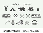 set of vintage camping outdoor... | Shutterstock .eps vector #1228769539