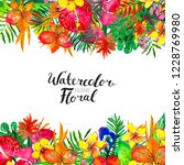 watercolor background with... | Shutterstock . vector #1228769980