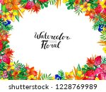 watercolor background with... | Shutterstock . vector #1228769989