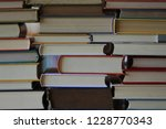 close up of several books... | Shutterstock . vector #1228770343
