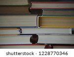 close up of several books... | Shutterstock . vector #1228770346
