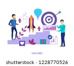 career ladder. success in work  ... | Shutterstock .eps vector #1228770526