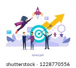business goals. successes in... | Shutterstock .eps vector #1228770556