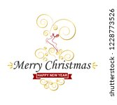 merry christmas greeting card   ... | Shutterstock .eps vector #1228773526