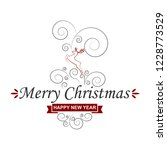 merry christmas greeting card   ... | Shutterstock .eps vector #1228773529