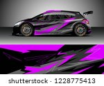 racing car livery design vector.... | Shutterstock .eps vector #1228775413
