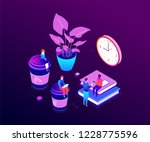 coffee break   modern vector... | Shutterstock .eps vector #1228775596
