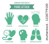 common symptoms of panic attack ... | Shutterstock .eps vector #1228779100