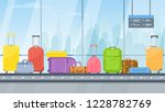vector airport conveyor belt... | Shutterstock .eps vector #1228782769