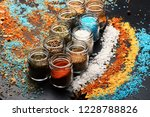 composition of bottles with... | Shutterstock . vector #1228788826