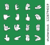 hand gestures icons pack is a... | Shutterstock .eps vector #1228794019