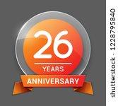 26   twenty six years... | Shutterstock .eps vector #1228795840