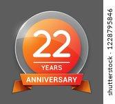 22   twenty two years... | Shutterstock .eps vector #1228795846