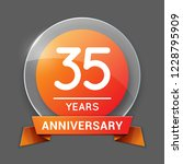 35   thirty five years...   Shutterstock .eps vector #1228795909