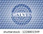 calves blue polygonal badge. | Shutterstock .eps vector #1228801549