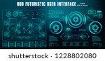 hud futuristic green user... | Shutterstock .eps vector #1228802080