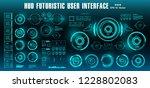 dashboard display virtual... | Shutterstock .eps vector #1228802083