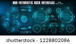 hud futuristic green user... | Shutterstock .eps vector #1228802086