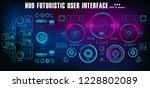 hud futuristic blue user... | Shutterstock .eps vector #1228802089