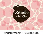 vector of abstract polka dot... | Shutterstock .eps vector #122880238