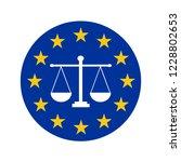european justice symbol icon | Shutterstock . vector #1228802653