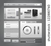 gray ui controls web elements 4 ...