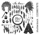boho style vector set with... | Shutterstock .eps vector #1228807870