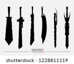 swords set. sword isolated on... | Shutterstock .eps vector #1228811119