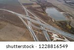aerial view of highway and... | Shutterstock . vector #1228816549