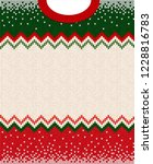 ugly sweater merry christmas... | Shutterstock . vector #1228816783