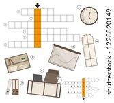 vector colorless crossword ... | Shutterstock .eps vector #1228820149