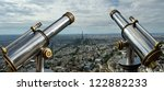telescope viewer and city... | Shutterstock . vector #122882233
