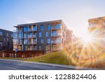 modern flat apartment house and ... | Shutterstock . vector #1228824406