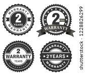 2 years warranty vector badge... | Shutterstock .eps vector #1228826299